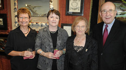 Linda Benedict-Jones and Barbara Jones with founders Carolyn and Mel Berkovitz.