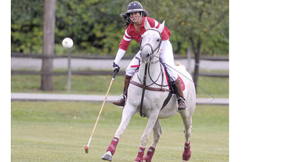 Mary Muldoon of the Potomac Polo Club of Poolesville, Pa.