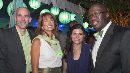 Stephen and Betsy Magley, Meredith Calfe and Abass Kamara.