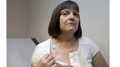 Brenda Werner, of Tyrone, Pa., is part of the CardioFit system clinical trial at Allegheny General Hospital. Ms. Werner is the first person to participate in the program.