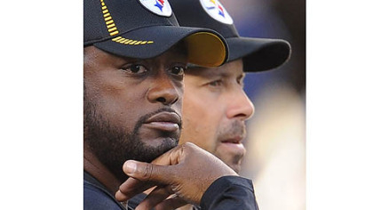 Steelers head coach Mike Tomlin and offensive coordinator Todd Haley.