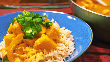 Red Thai Chicken with Squash Curry