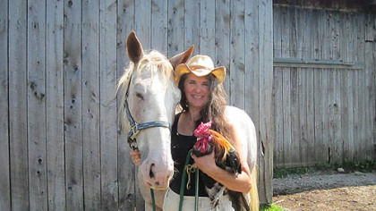 Melanie Krneta, co-owner of Little Bit of Heaven Farm near Springboro, Crawford County. The farm is hosting a Homesteading Festival Saturday and Sunday.