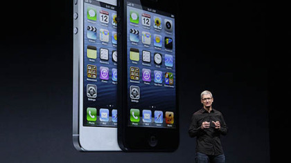 Apple CEO Tim Cook introduces the new iPhone 5.