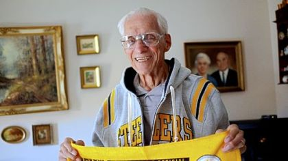 Angelo Cammarata bought Steelers tickets from Art Rooney Sr. in 1933 and has had season tickets ever since. Mr. Cammarata, 98, will be recognized at Sunday's game.