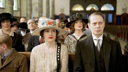 "Kelly Macdonald and Steve Buscemi, unhappily married in ""Boardwalk Empire."""