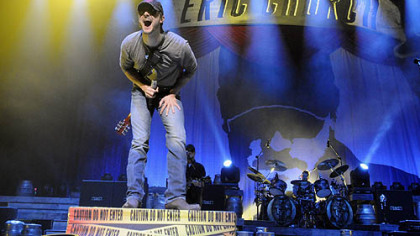 Eric Church performs at Consol Energy Center on the Blood, Sweat and Beers Tour.