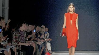 The Narciso Rodriguez Spring 2013 collection is modeled during Fashion Week in New York, Tuesday, Sept. 11, 2012.