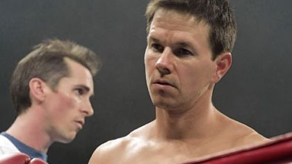 Christian Bale plays Dicky Eklund and Mark Wahlberg plays Micky Ward in &quot;The Fighter.&quot;