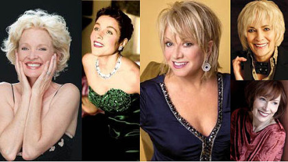 Clockwise from left: Christine Ebersole, Christine Andreas, Elaine Paige, Betty Buckley and Karen Akers.