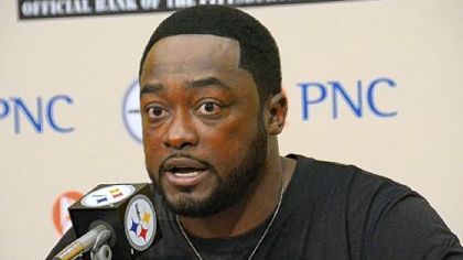 Steelers head coach Mike Tomlin speaks to the media during his weekly press conference at Steelers headquarters on the South Side.