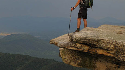 Matt Gavasto of Monroeville at McAfee Knob in Virginia. He hiked the more than 2,000 miles on the Appalachian Trail to raise money for Children&#039;s Hospital of Pittsburgh of UPMC.