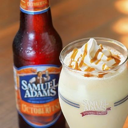 Samuel Adams Oktoberfest Milkshake being served by the Round Robin chain; each is $4.59.