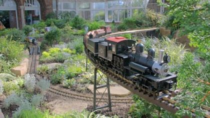 Phipps Garden Railroad exhibit.