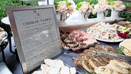 A cookie table at the wedding of reader Jan Dean&#039;s daughter, Noelle, and in memory of her mother, &quot;Grandma Ruthie.&quot;