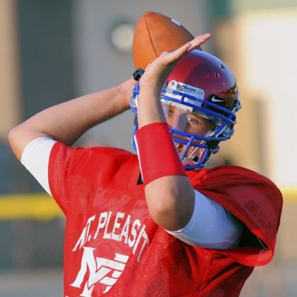 Mount Pleasant quarterback Ryan Gumbita.