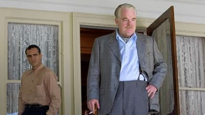 Joaquin Phoenix and Philip Seymour Hoffman star in &quot;The Master.&quot;
