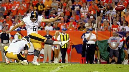 The Steelers' Shaun Suisham is one of 19 kickers who haven't missed on multiple attempts this season.