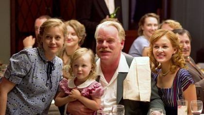 Amy Adams, left, and Philip Seymour Hoffman star in &quot;The Master.&quot;