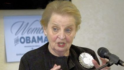 Madeleine Albright -- Thelonious Monk Institute of Jazz to recognize her.