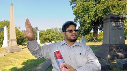 Saleemuddin Mohammad is organizing the effort to create a Muslim section at Chartiers Cemetery in Carnegie.