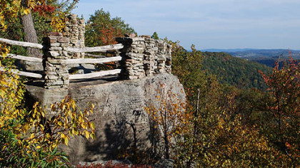 Cooper's Rock State Forest is about 13 miles east of Morgantown, W.Va.