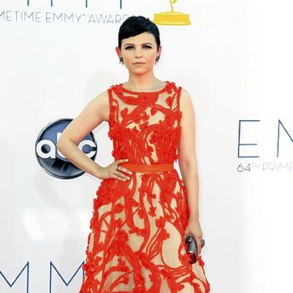 Ginnifer Goodwin sported a tangerine gown by Monique Lhuillier.