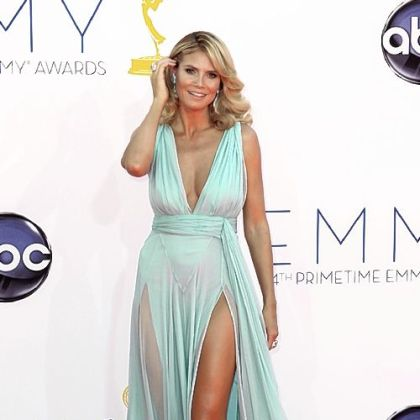 Heidi Klum was stunning in seafoam.