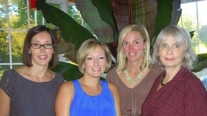 Co-Chairs Joanna Flanagan, Kirsten Powell, and Julie Rost with Stephanie Flom.