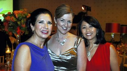Gala chairs Beverly Wukich, Mary Ellen Wampler and Ruby Kang.