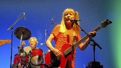 Chris Frantz on drums and Tina Weymouth of Tom Tom Club