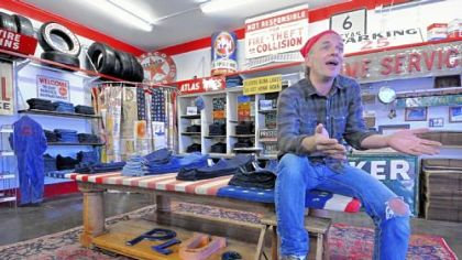 Since closing his Pittsburgh Jeans Co. store on the South Side, Lawrence Scott has refurbished an old gas station in New Eagle for his new online Plus jeans store.