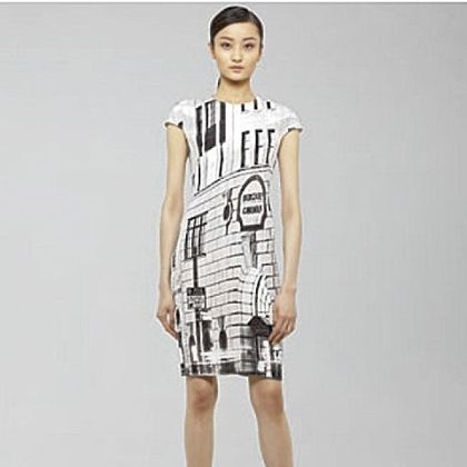 Commemorative graphic print dress by Akris; $3,990.