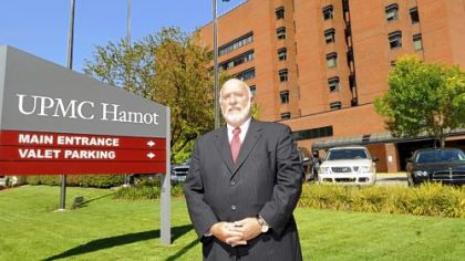 Erie County Exec. Barry Grossman at UPMC Hamot Medical Center in Erie, Pa.