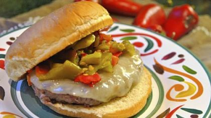 Green Chile Cheeseburger (see recipe below).