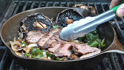 Skirt Steak with Green Chiles and Mushrooms (see recipe below).