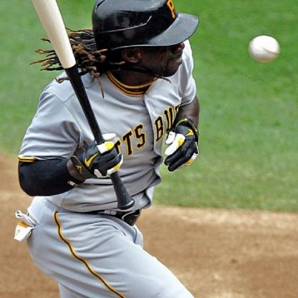 Pirates center fielder Andrew McCutchen ducks a high pitch from Mets starting pitcher R.A. Dickey in the second inning Thursday at Citi Field in New York.