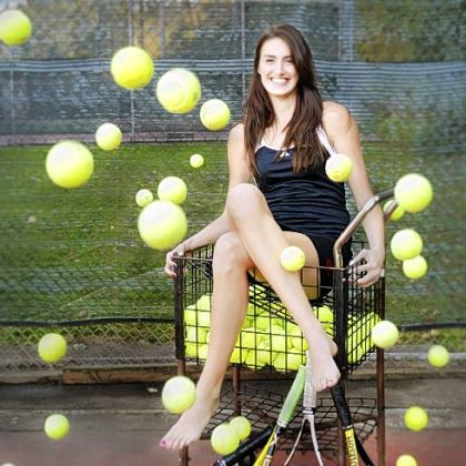 Upper St. Clair's Samantha Amos plays tennis and volleyball, and maintains a full-time class schedule as a high school Freshman.