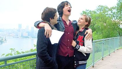 "Logan Lerman, Ezra Miller and Emma Watson are schoolmates in ""The Perks of Being a Wallflower."""