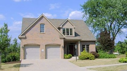 This home in Springer Manor in Moon is sided in brick and Hardie Board. Buyers can choose stone instead of brick.