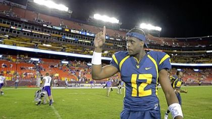 Quarterback Geno Smith and West Virginia will play their first Big 12 game today against Baylor at home.