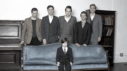 The Walkmen -- Paul Maroon, left, Walter Martin, Peter Bauer, Matt Barrick and Hamilton Leithauser -- have been including their offspring in band photos.