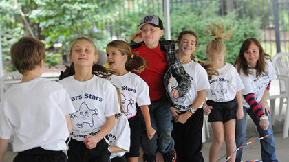 Members of the Mars Stars take part in a jump rope demonstration at the National Aviary, which is celebrating its 60th anniversary.