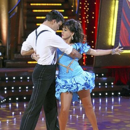 "Marie Osmond performs a samba with partner Jonathan Roberts on ""Dancing With the Stars"" in 2007."