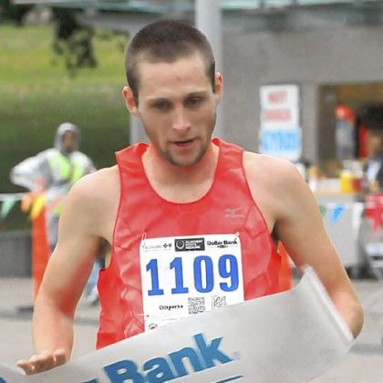 Trent Binford-Walsh of Pittsburgh takes first place in the 10k at the 35th Great Race with a time of 30 minutes, 46 seconds.