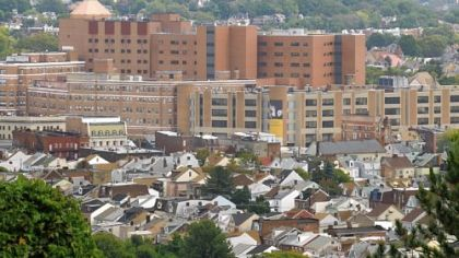 West Penn Allegheny Health System complex in Bloomfield.