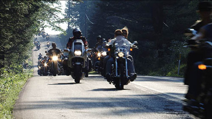 A Flight 93 memorial motorcycle ride from the crash site to Washington, D.C.
