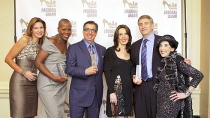 Pittsburgh Fashion Week honorees, from left: Robyn Bracco, accepting the award on behalf of the late Nick Bracco; Demeatria Boccella; Norman Childs; Dolores Warwick; John Waldman, accepting on behalf of the late Ilene Waldman; Violet Caridi Gallo.