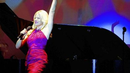 Megan Hilty of NBC&#039;s &quot;Smash&quot; performs at the Pittsburgh Cultural Trust gala.