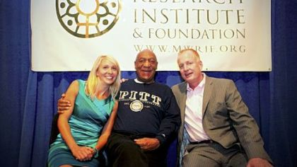 Bill Cosby with Julie and Mike McMullen.